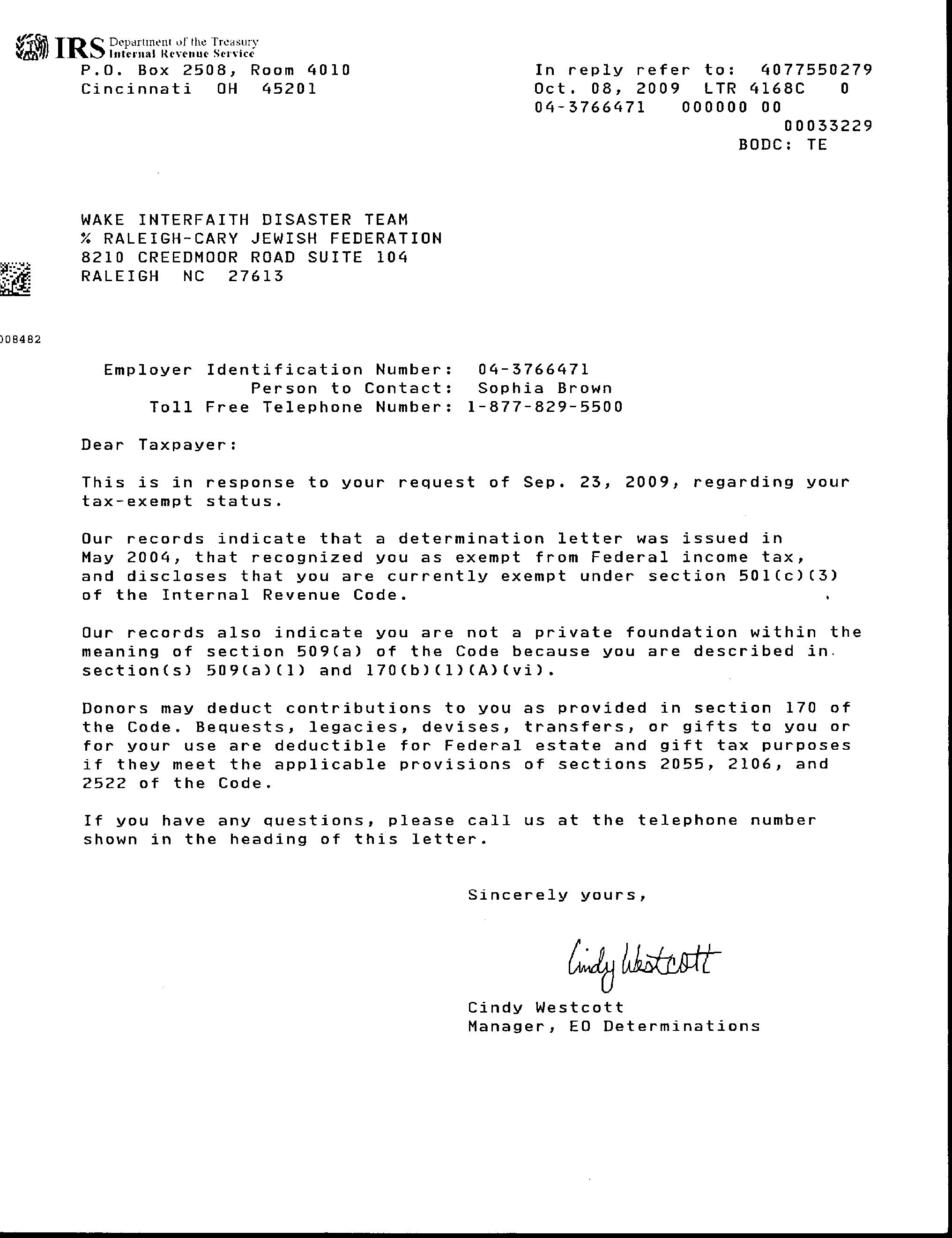 IRS FORM 147C